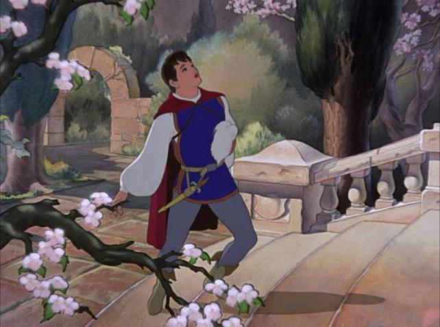 In caso non lo aveste mai notato vi metto la foto bella grande del principe di Biancaneve truccato come Moira Orfei.