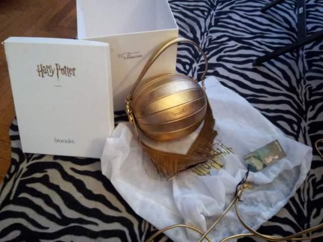 Braccialini borsa boccino d'oro Harry Potter.